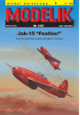 "MODELIK 01/05 JAK-15 ""FEATHER"""